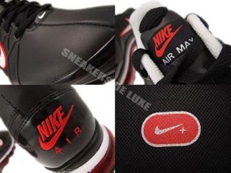366718-015 Nike Air Max 2009+ Black/White Challenge Red