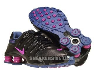 415245-010 Nike Shox NZ Black / Vivid Grape / Blue Recall / Imperial Purple