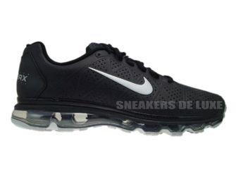 456325-090 Nike Air Max 2011+ LEA Black Metallic Silver