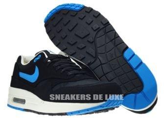512033-041 Nike Air Max 1 Premium Black/Blue Her-Black-Sail