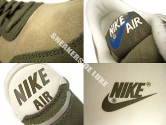 532495-340 Nike Air Vortex Leather Steel Green/Cargo Khaki/Dk Royal Blue