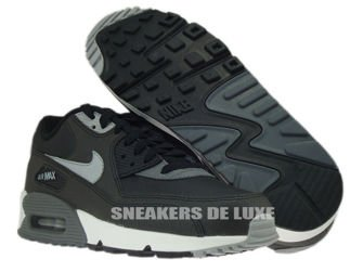 537384-003 Nike Air Max 90 Essential Black/Silver-Dark Grey-Black