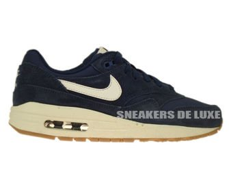 premium selection e9a26 030a7 555766-404 Nike Air Max 1 Midnight Navy   Sail - Black ...