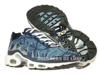 604133-449 Nike Air Max Plus TN 1 Blue Shadow/Midnight Navy-Metallic Silver