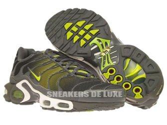 647315-030 Nike Air Max Plus TN 1 Dark Grey/Venom Green