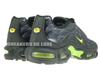 647315-070 Nike Air Max Plus TXT TN 1 Black/Volt-Dark Grey