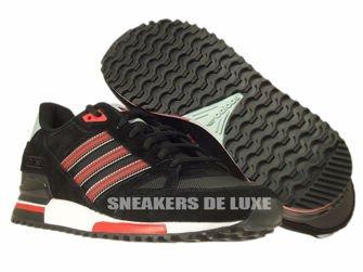 B24856 adidas ZX 750 core black / rust red f15-st / mist slate f15-st