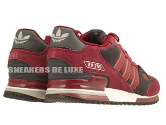 B25960 Adidas ZX 750 Collegiate Burgundy/Collegiate Burgundy/Dgh Solid Grey