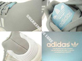 B34058 adidas ZX Flux Clear Onix / Ftwr White / Blush Blue