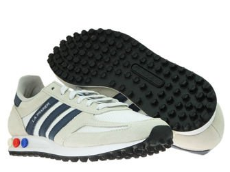 B37829 adidas LA Trainer Crystal White/Collegiate Navy/Clear Brown