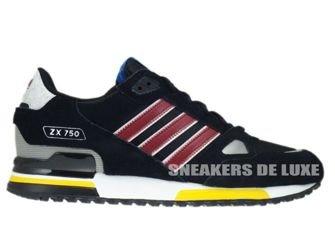 G96725 Adidas ZX 750 Originals Black/Cardinal/White