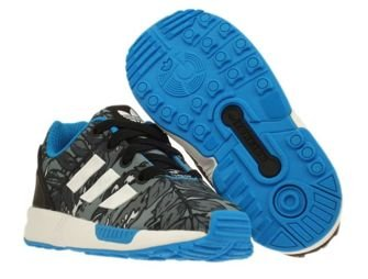 M19402 adidas ZX Flux EL Infants Core Black / Running White / Solar Blue