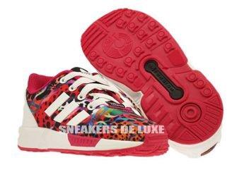 M19403 adidas ZX Flux EL Infants Running White / Running White / Pink Buzz
