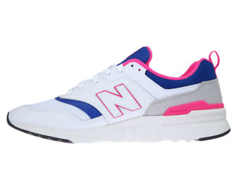 New Balance CM997HAJ White with Laser Blue