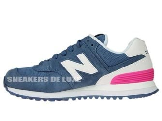 New Balance WL574CNB Chambray with White & Peony
