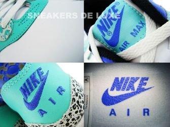 Nike Air Max 1 Nike Air Max 1 Premium Safari Print White/White-Medium Blue-Mint 314252-114