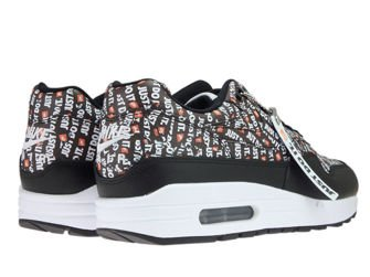 Nike Air Max 1 Premium 875844-009 Black/Total Orange/White
