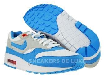 Nike Air Max 1 White/Scuba Blue-Neutral Grey 308866-143