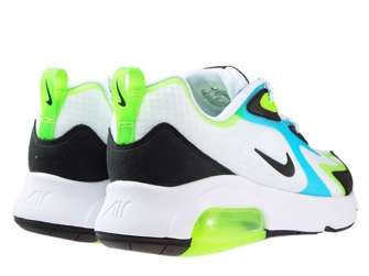 Nike Air Max 200 SE CJ0575-101 White/Black-Electric Green