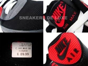 Nike Air Max 90 Black/White-Flint Grey-Hot Red 345188-001