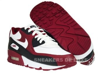 Nike Air Max 90 Premium White-White-Team Red-Black 333888-101