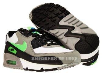 Nike Air Max 90 White/Neo Lime-Medium Grey-Black 306676-124