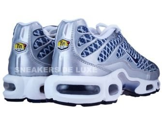 Nike Air Max Plus TN 1 Metallic Silver/Midnight Navy-Metallic Silver