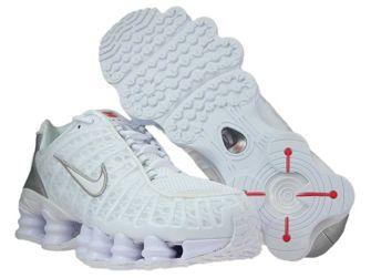 Nike Shox TL AV3595-100 White/White-Metallic Silver