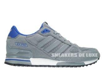 Q21311 Adidas ZX 750 Originals Tech Grey/Tech Grey/Color Royal