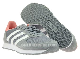 S74985 adidas ZX Racer Grey / Ftwr White / Peach Pink