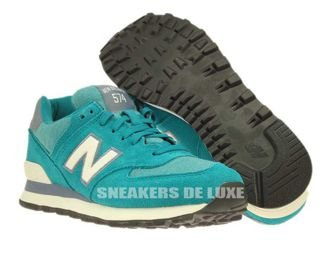 WL574PGW New Balance 574 Pennant Pack Green / White